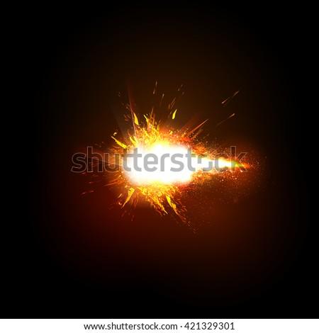 Spark Effect Sparkling stars light effect easy editable - stock vector