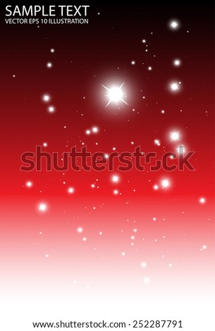 Sparkle red falling background vector illustration template - Vector red space sparkle fall  background illustration - stock vector
