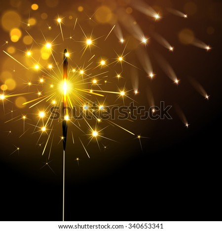 sparkler on a dark background