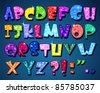 Sparkling alphabet - stock photo
