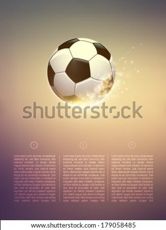sparkling vector football/soccer ball - stock vector