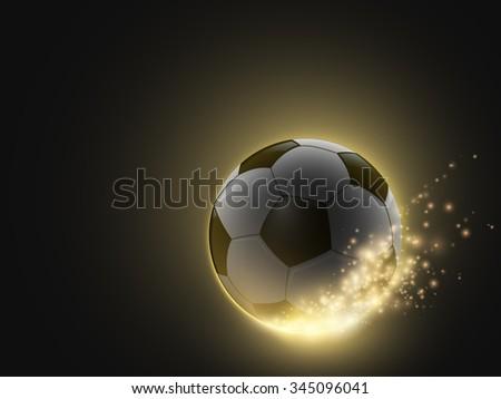 sparkling vector soccer ball - stock vector