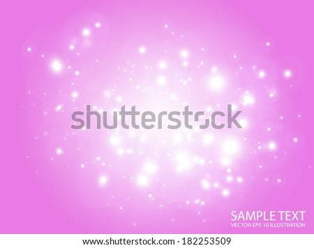 Sparks collection space vector background template - Vector pink glitters in space  background illustration - stock vector