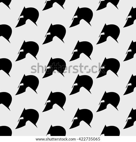 Spartan helmet.Background.Pattern - stock vector