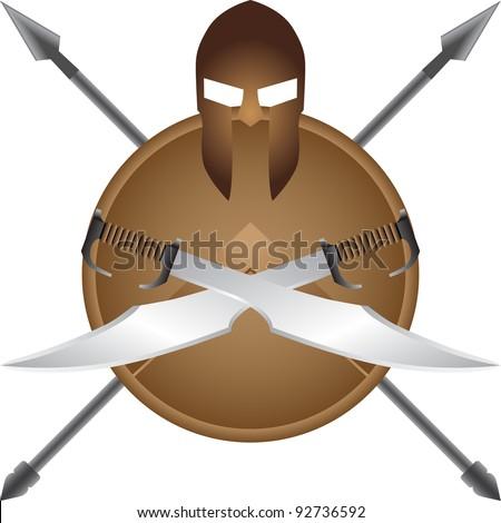 Spartan symbol - stock vector
