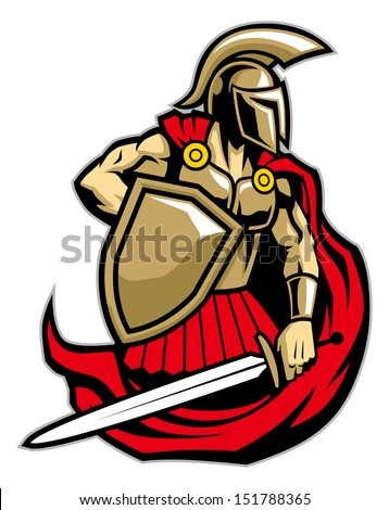 spartan warrior - stock vector