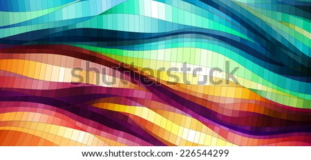 Spatial Colorful Background, vector eps10 illustration - stock vector