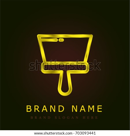 spatula golden metallic logo stock vector 703093441 shutterstock