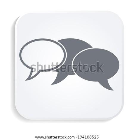 Speach bubbles white icon - stock vector