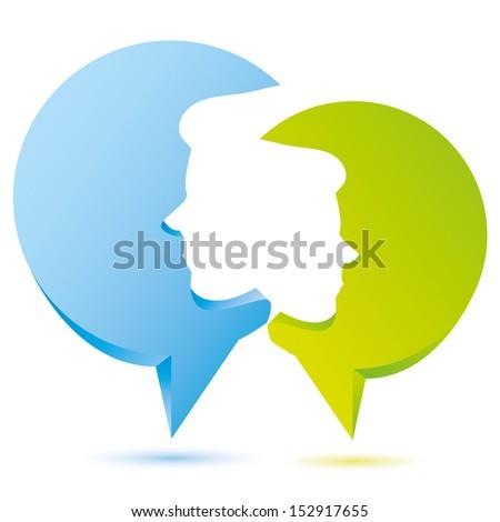 speak bubble, talking concept - stock vector