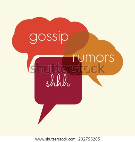 Speak bubbles gossip, rumors - stock vector
