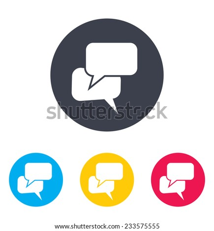 Speak bubbles icon - stock vector