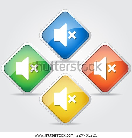 Speaker Colorful Vector Icon Design