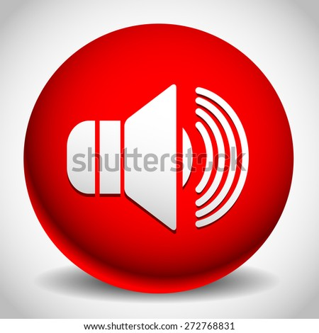 Speaker icon for volume, loudness or alarm concepts. Vector illustration a - stock vector