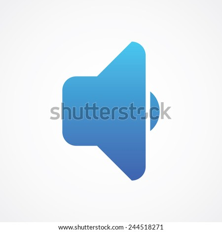 Speaker icon. Simple flat style vector illustration - stock vector