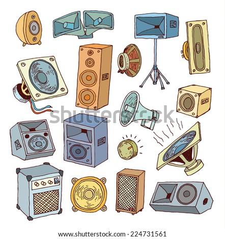 Speaker icon. Vector illustration. - stock vector