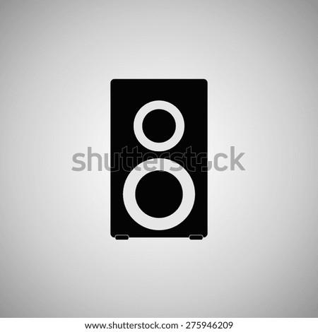speaker icon, vector illustration. Flat design style. - stock vector