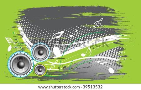 speaker on retro wave lien background,vector illustration - stock vector