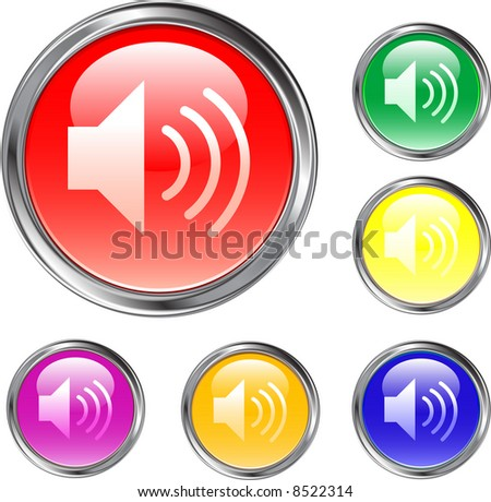 Speaker or Volume Buttons - stock vector