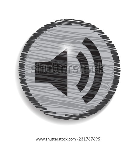 Speaker volume sound icon - stock vector