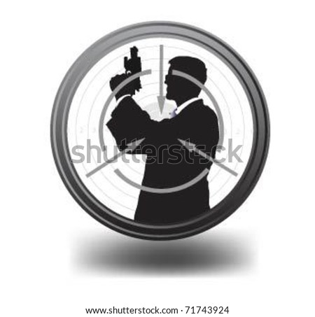 Special Agent in optical sight. - stock vector