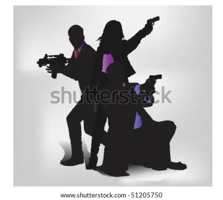 Special agents. - stock vector