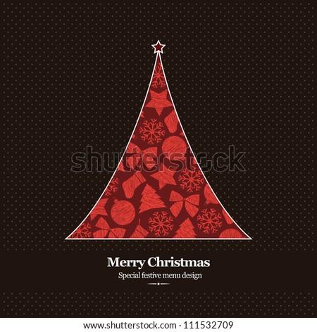 Special Christmas menu design - stock vector
