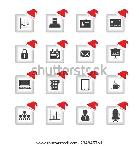 special flat ui icons with Christmas design for web and mobile applications - stock vector