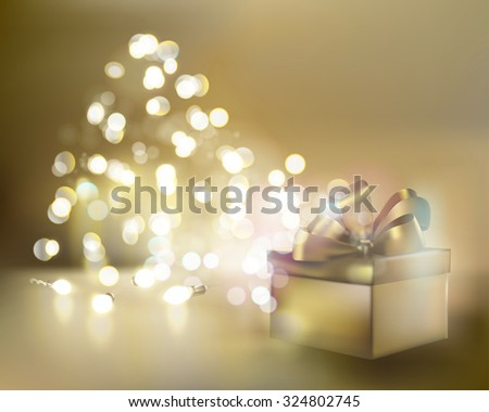 Special gift. Vector illustration. - stock vector