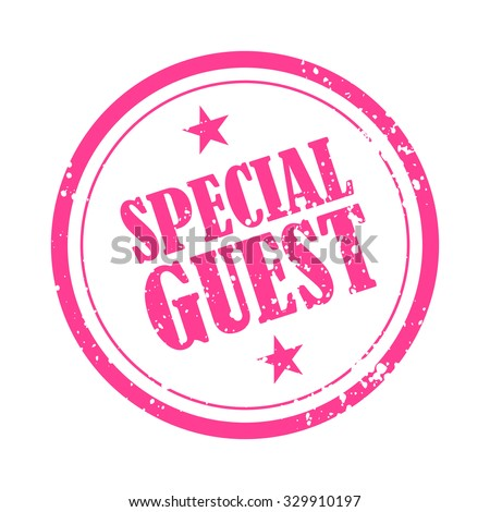 special guest rubber stamp badge templateのベクター画像素材