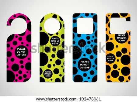 Door Hanger Do Not Disturb Sign Stock Illustration 590838944