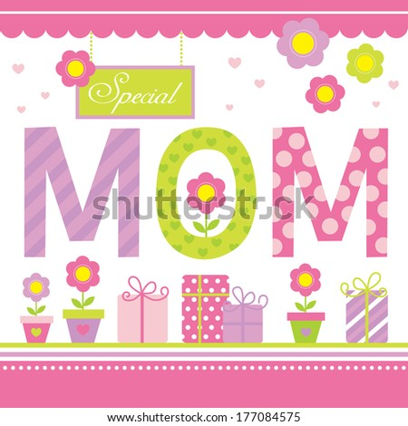 special mom - stock vector