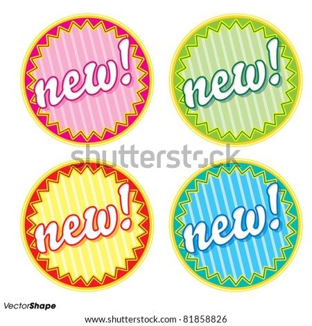 Special new product seal sticker, new offer concept, vector illustration - stock vector