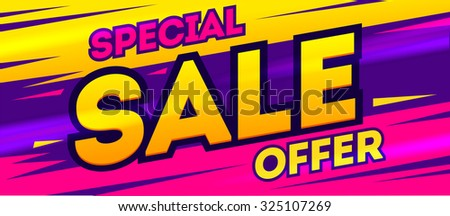Special offer banner. Sale and discounts. Vector illustration - stock vector
