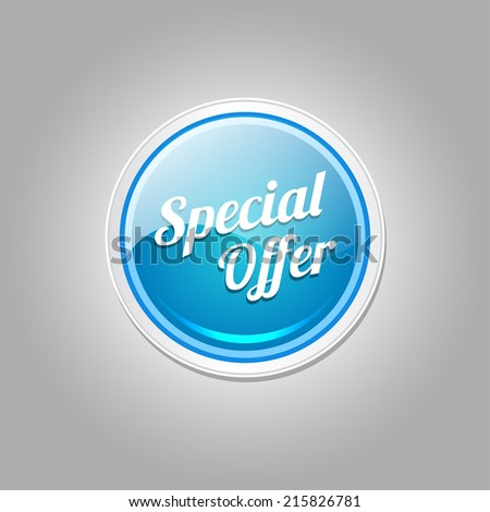 Special Offer Blue Vector Icon Button
