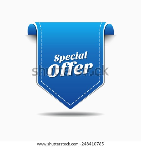 Special Offer Blue Vector Icon Design