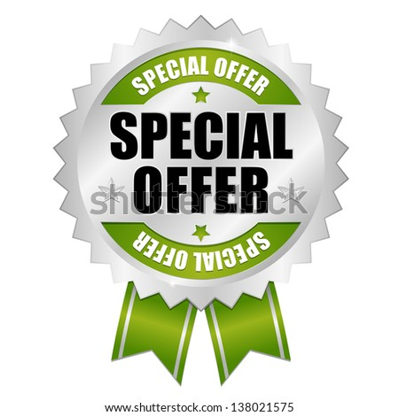 Special offer button green