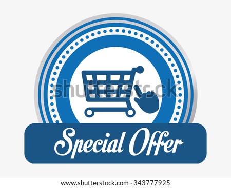 Special offer concept and shopping icons design, vector illustration 10 eps graphic. - stock vector