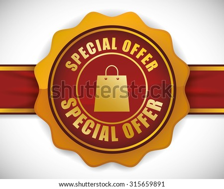 Special offer concept label with sale icons, vector illustration 10 eps graphic. - stock vector