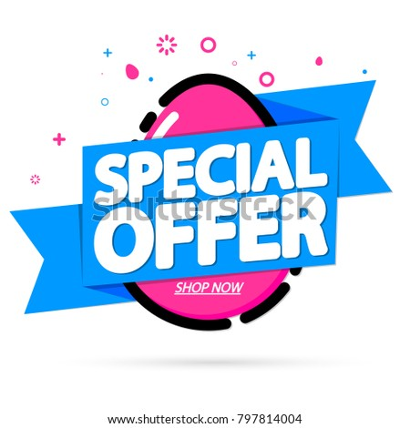 Special Offer Easter Sale Tag Banner Stock Vector Hd Royalty Free