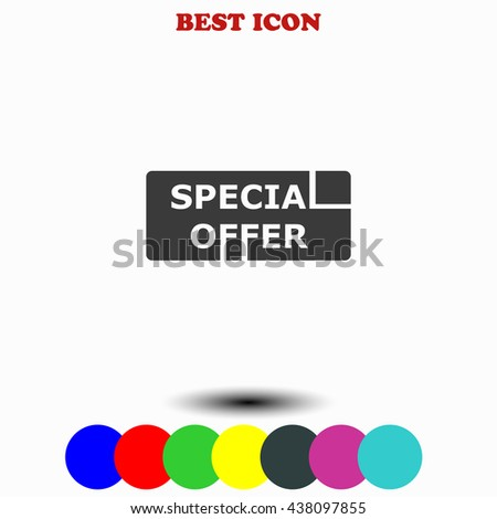 Special offer icon. - stock vector