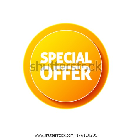 Special offer icon on white background - stock vector