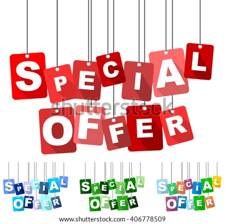 special offer, red vector special offer, flat tag special offer, set tags special offer, element special offer, sign special offer, design special offer, background special offer, special offer eps10 - stock vector