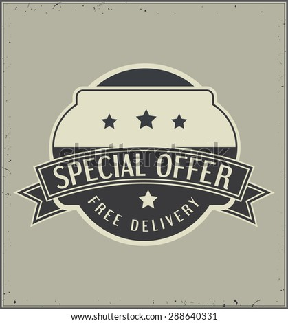 special offer retro badge