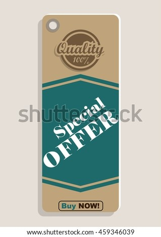 special offer. retro style cardboard. vintage sale labels. special discount - stock vector