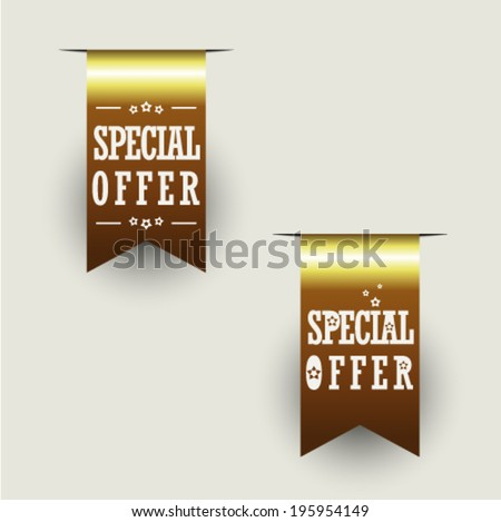 Special Offer Ribbons - stock vector