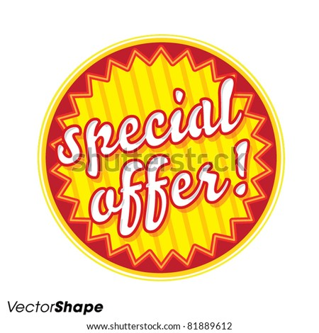 Special offer seal sticker, new product offer concept, vector illustration