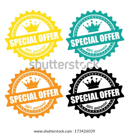 special offer stamp, sign, label and sticker - vector. - stock vector