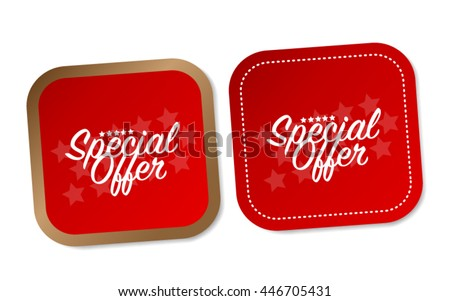 Special offer stickers