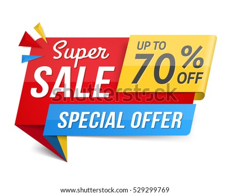 Special offer super sale banner, advertisement, promotion design, vector eps10 illustration